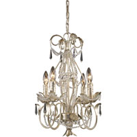 ELK Lighting Madison 4 Light Chandelier in Silver Leaf 3733/4
