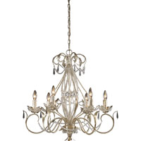 ELK Lighting Madison 6 Light Chandelier in Silver Leaf 3734/6