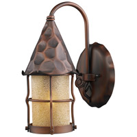 Rustica 1 Light 14 inch Antique Copper Outdoor Sconce