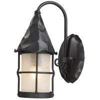 Rustica 1 Light 14 inch Matte Black Outdoor Sconce