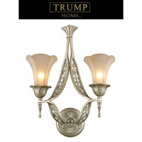 ELK Lighting Trump Home Central Park Chelsea 2 Light Sconce in Aged Silver 3824/2