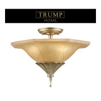 ELK Lighting Trump Home Central Park Chelsea 3 Light Semi Flush in Aged Silver 3825/3