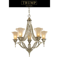 ELK Lighting Trump Home Central Park Chelsea 5 Light Chandelier in Aged Silver 3826/5
