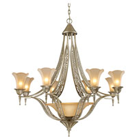 ELK Lighting Trump Home Central Park Chelsea 8 Light Chandelier in Aged Silver 3828/8+1