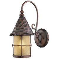 ELK Lighting Rustica 1 Light Outdoor Sconce in Antique Copper 385-AC