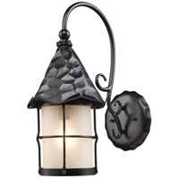 ELK Lighting Rustica 1 Light Outdoor Sconce in Matte Black 385-BK