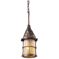 ELK Lighting Rustica 1 Light Outdoor Pendant in Antique Copper 388-AC