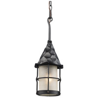 Rustica 1 Light 7 inch Matte Black Outdoor Pendant