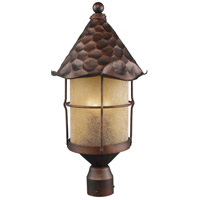 Rustica 3 Light 26 inch Antique Copper Outdoor Post Light