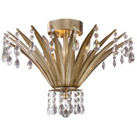 ELK 3920/3 Naples 3 Light 19 inch Antique Silver Leaf Flush Mount Ceiling Light