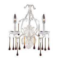 ELK Lighting Opulence 2 Light Sconce in Antique White 4000/2AMB