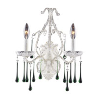 ELK Lighting Opulence 2 Light Sconce in Antique White 4000/2LM
