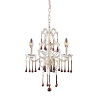 ELK Lighting Opulence 3 Light Chandelier in Antique White 4001/3AMB