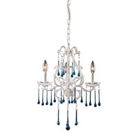 Opulence 3 Light 17 inch Antique White Chandelier Ceiling Light