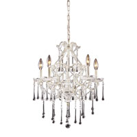 ELK Lighting Opulence 5 Light Chandelier in Antique White 4002/5CL