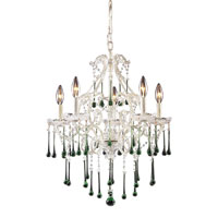 ELK Lighting Opulence 5 Light Chandelier in Antique White 4002/5LM