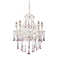 ELK Lighting Opulence 5 Light Chandelier in Antique White 4002/5RS
