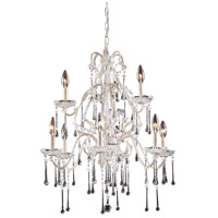 ELK 4003/6+3CL Opulence 9 Light 25 inch Antique White Chandelier Ceiling Light in Clear Crystal