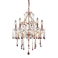 ELK Lighting Opulence 5 Light Chandelier in Rust 4012/5AMB