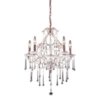 ELK Lighting Opulence 5 Light Chandelier in Rust 4012/5CL