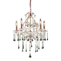 ELK Lighting Opulence 5 Light Chandelier in Rust 4012/5LM