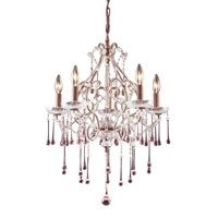 ELK Lighting Opulence 5 Light Chandelier in Rust 4012/5RS