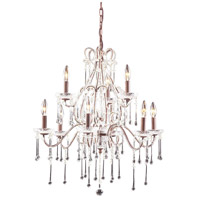 ELK 4013/6+3CL Opulence 9 Light 25 inch Rust Chandelier Ceiling Light in Clear Crystal