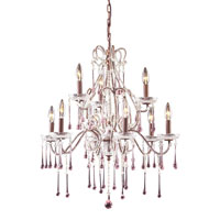 Opulence 9 Light 25 inch Rust Chandelier Ceiling Light in Rose Crystal