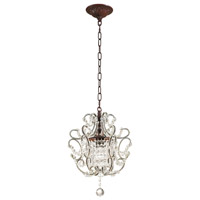 ELK 4021/1 Elise 1 Light 12 inch Rust Mini Pendant Ceiling Light