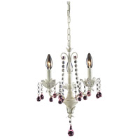 ELK 4040/3 Elise 3 Light 13 inch Antique White Chandelier Ceiling Light
