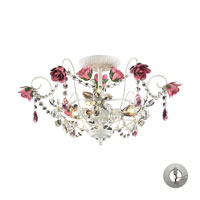 ELK Lighting Rosavita 3 Light Semi-Flush Mount in Antique White 4052/3-LA