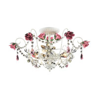 Rosavita 3 Light 19 inch Antique White Semi-Flush Mount Ceiling Light in Standard