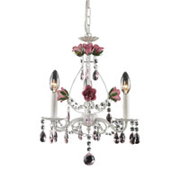 ELK Lighting Rosavita 3 Light Chandelier in Antique White 4053/3