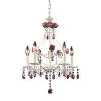ELK Lighting Mary-Kate And Ashley Rosavita 5 Light Chandelier in Antique White 4054/5