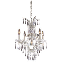 La Fontaine 5 Light 19 inch Sunset Silver Chandelier Ceiling Light
