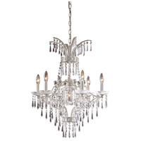 ELK Lighting La Fontaine 7 Light Chandelier in Sunset Silver 4056/6+1