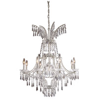 ELK Lighting La Fontaine 9 Light Chandelier in Sunset Silver 4057/8+1