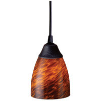 Classico 1 Light 5 inch Dark Rust Pendant Ceiling Light in Incandescent, Espresso Glass, Standard