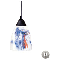 ELK Lighting Classico 1 Light Pendant in Dark Rust 406-1MT-LA