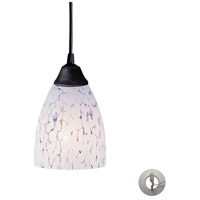 Classico 1 Light 5 inch Dark Rust Pendant Ceiling Light in Incandescent, Snow White Glass, Recessed Adapter Kit