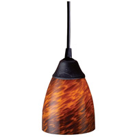 ELK Lighting Classico 1 Light Pendant in Dark Rust 406-1ES-LED