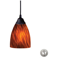 Classico 1 Light 5 inch Dark Rust Pendant Ceiling Light in Incandescent, Espresso Glass, Recessed Adapter Kit