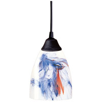 Classico LED 5 inch Dark Rust Pendant Ceiling Light in Mountain Glass, Standard