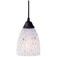 Classico LED 5 inch Dark Rust Pendant Ceiling Light in Snow White Glass, Standard