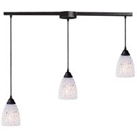 Classico 3 Light 36 inch Dark Rust Pendant Ceiling Light in Snow White Glass