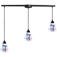 Classico 3 Light 36 inch Dark Rust Pendant Ceiling Light in Mountain Glass