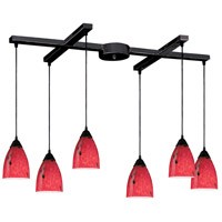 ELK Lighting Classico 6 Light Pendant in Dark Rust 406-6FR