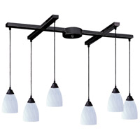 ELK Lighting Classico 6 Light Pendant in Dark Rust 406-6WH