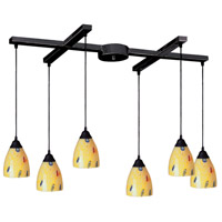 ELK Lighting Classico 6 Light Pendant in Dark Rust 406-6YW