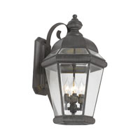 Newington 4 Light 24 inch Charcoal Outdoor Sconce